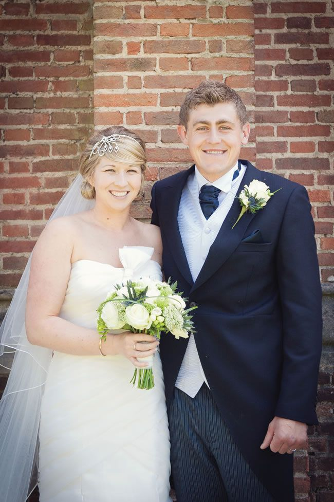 We love Rachael and Christopher\'s classic cream and navy real wedding