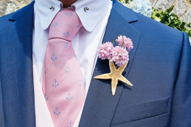 Laura and Ben's gorgeous pink and blue seaside wedding © staplephotography.co.uk