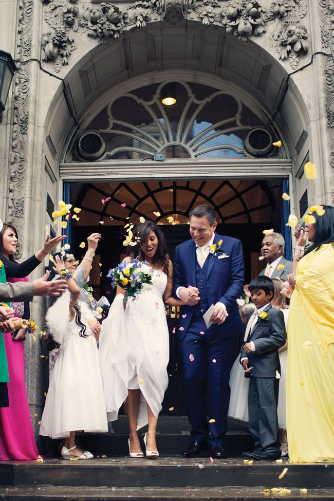 Akashia and Sean's multicultural wedding was a riot of colour and tradition © Caro Hutchings Photography