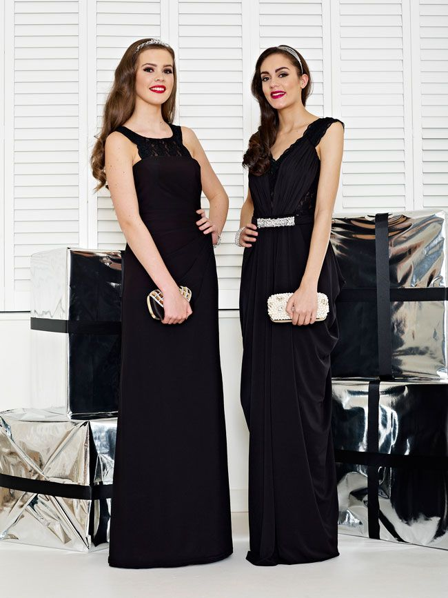 glamorous-wedding-theme-we-love-these-new-black-bridesmaid-dresses-Style-2226-and-2235