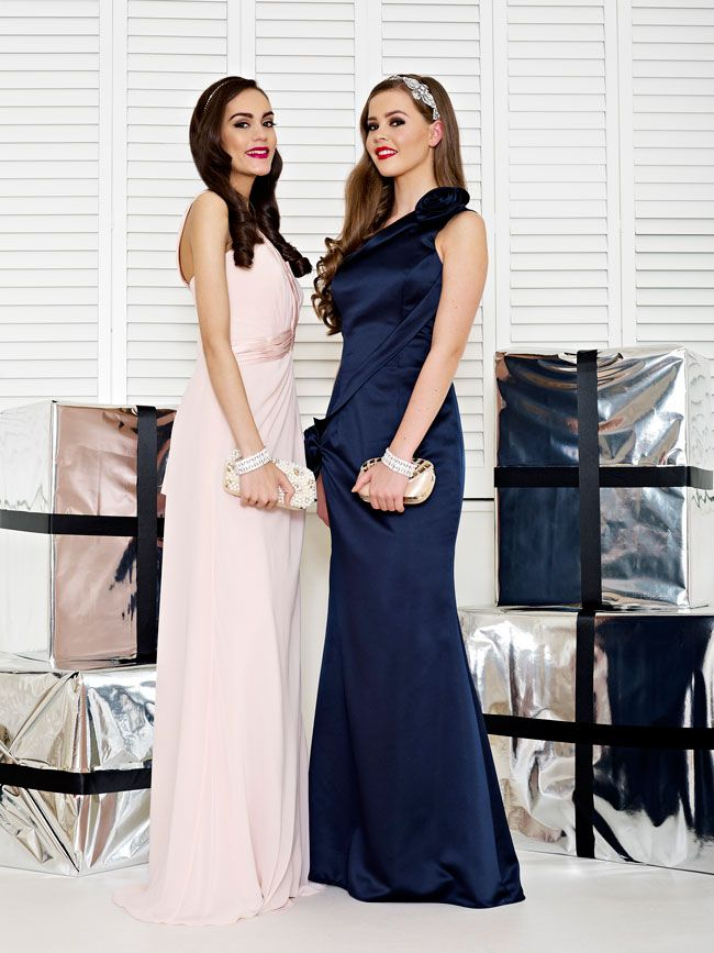 glamorous-wedding-theme-we-love-these-new-black-bridesmaid-dresses-Style-2233-and-2234