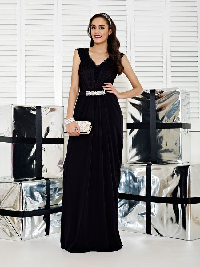 glamorous-wedding-theme-we-love-these-new-black-bridesmaid-dresses-Style-2235