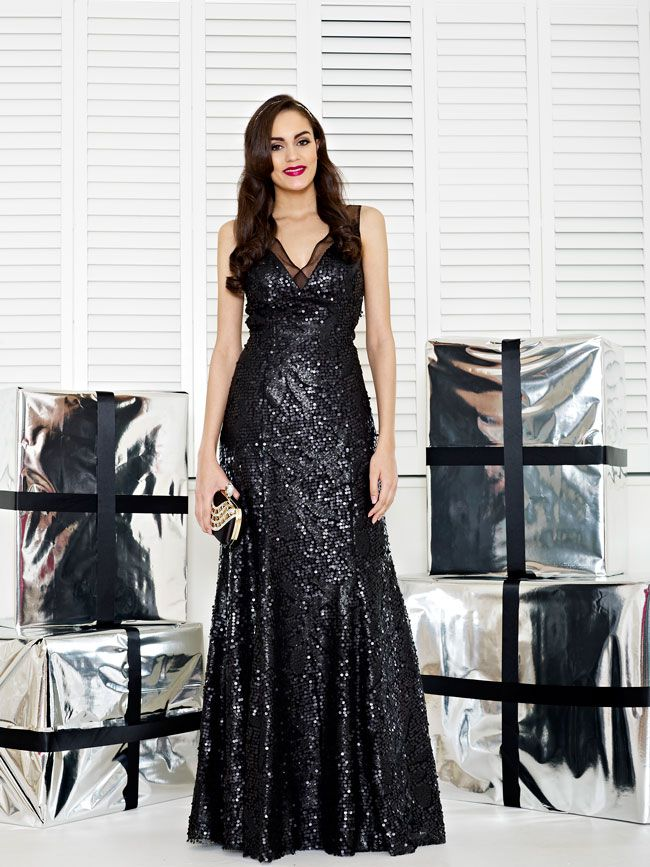 glamorous-wedding-theme-we-love-these-new-black-bridesmaid-dresses-Style-2236
