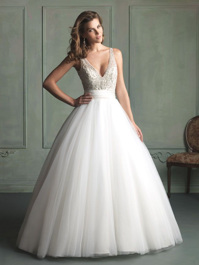 hate-strapless-try-these-new-wedding-dresses-with-straps-from-allure-bridals-9103F