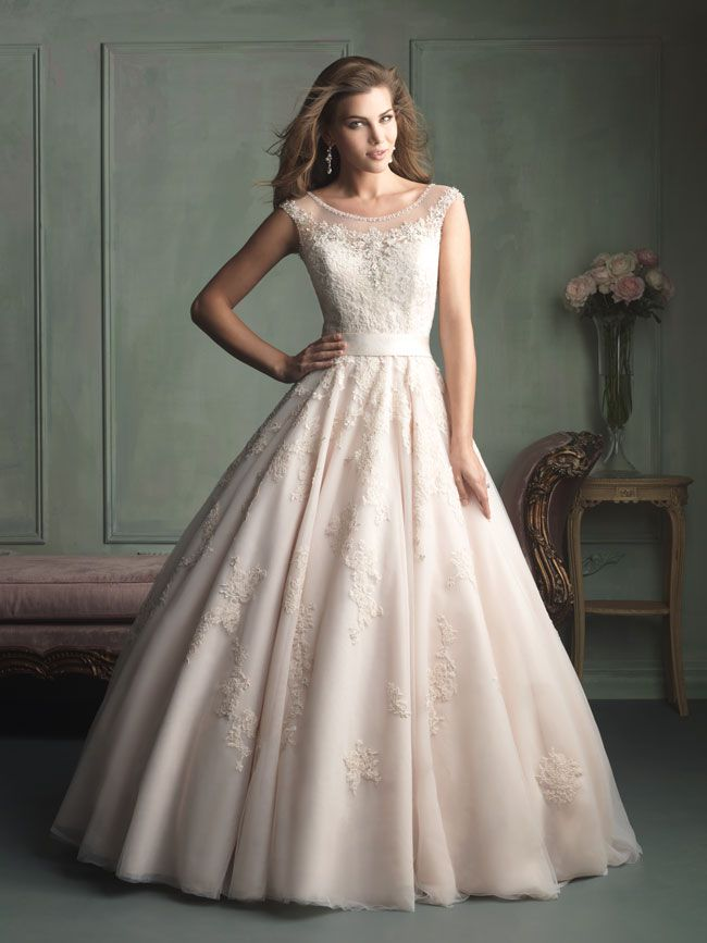 hate-strapless-try-these-new-wedding-dresses-with-straps-from-allure-bridals-9114F