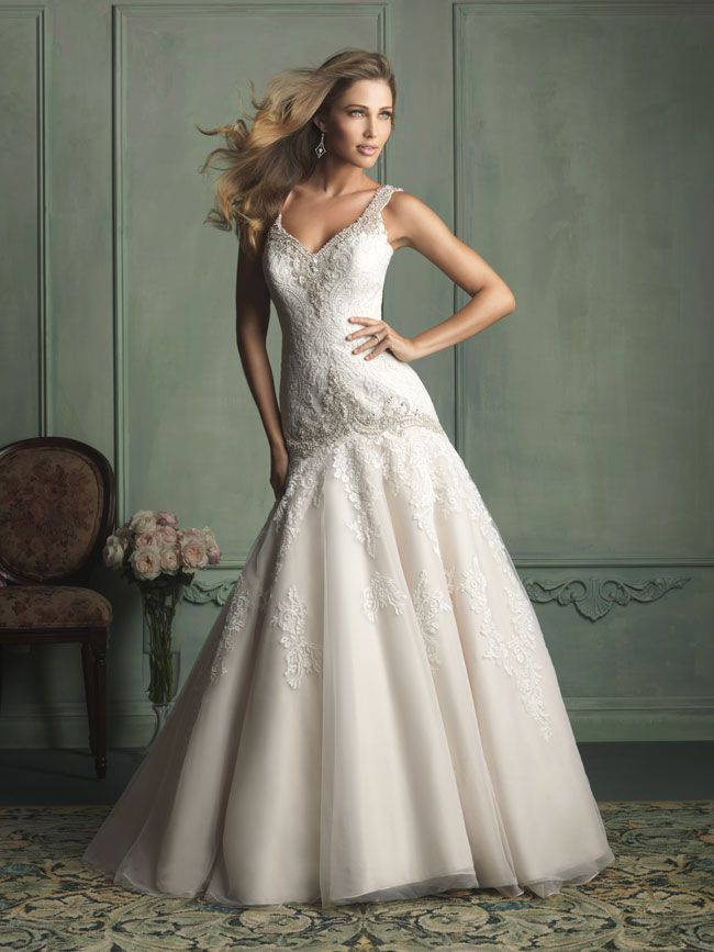 hate-strapless-try-these-new-wedding-dresses-with-straps-from-allure-bridals-9127F