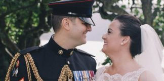 Louise and Chris had a beautiful military wedding on the shores of Lake Como © Jess Petrie