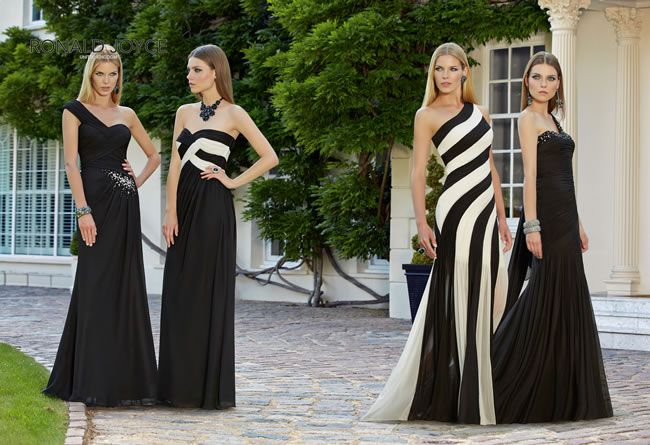 the-latest-ronald-joyce-bridesmaids-collection-is-perfect-for-your-super-glamorous-girls-monochrome-group