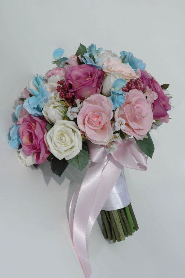 10-best-selling-silk-wedding-flowers-for-spring-and-summer-2014-angie-mixed-rose-hydrangea-bride_4