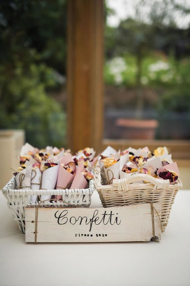 14 Amazing DIY Details from Real Weddings confetti cones