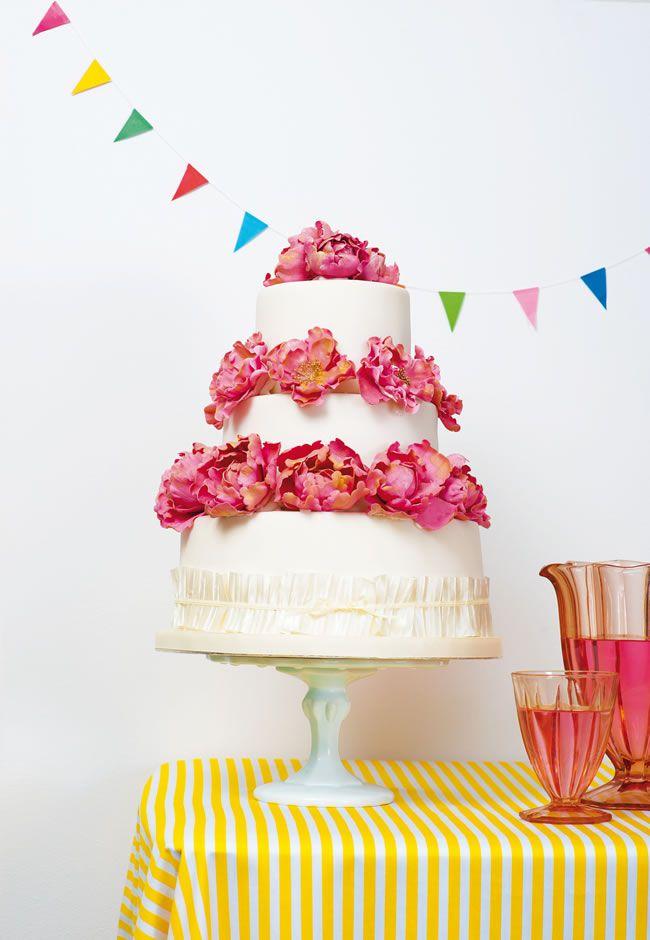 Diy Wedding Cake Tutorial How To Make Peony Cake Decorations
