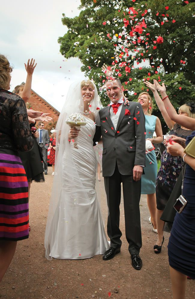 Gemma And Garrick Had A Quirky Red And Black Wedding Theme