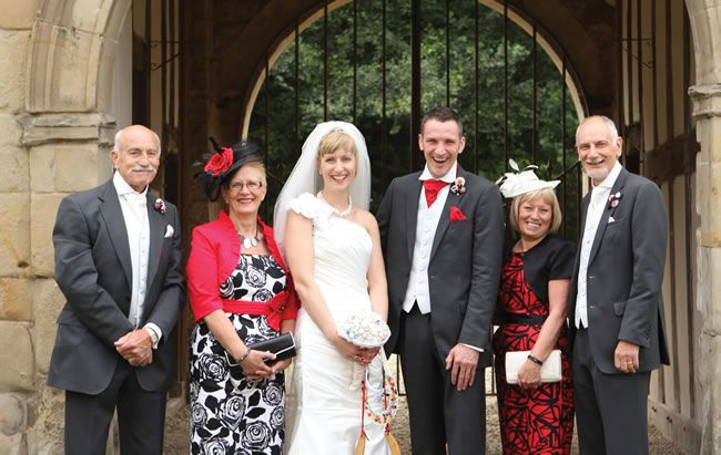 Gemma and Garrick had a quirky red and black wedding theme © haywoodjonesphotography.co.uk