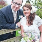 Joanne and Fraser's cute country garden wedding © eleanorjaneweddings.co.uk