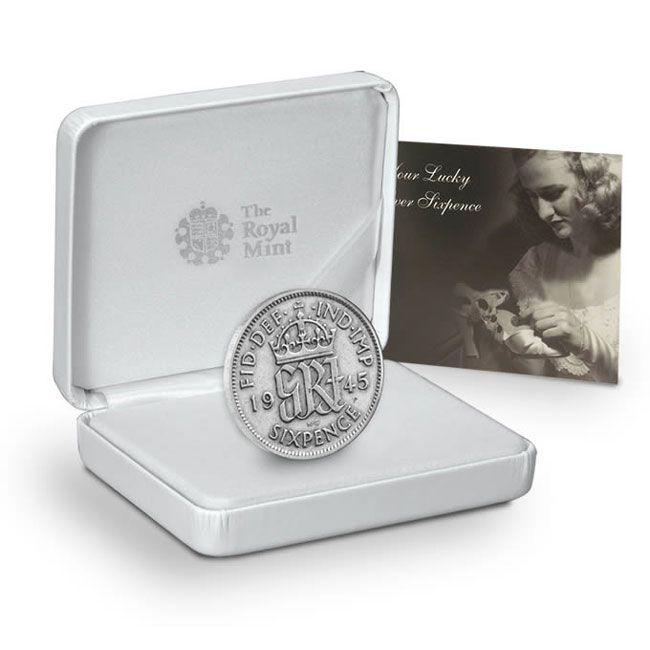 The Lucky Wedding Coin Silver Sixpence