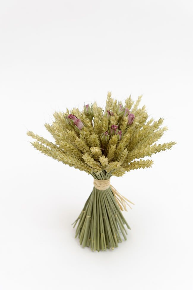 Wheatsheaf with pink and cream rose sprigs, from £13.50, ShropshirePetals.com
