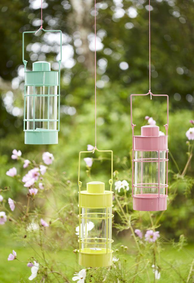 Round glass lanterns, £10 each, Tesco