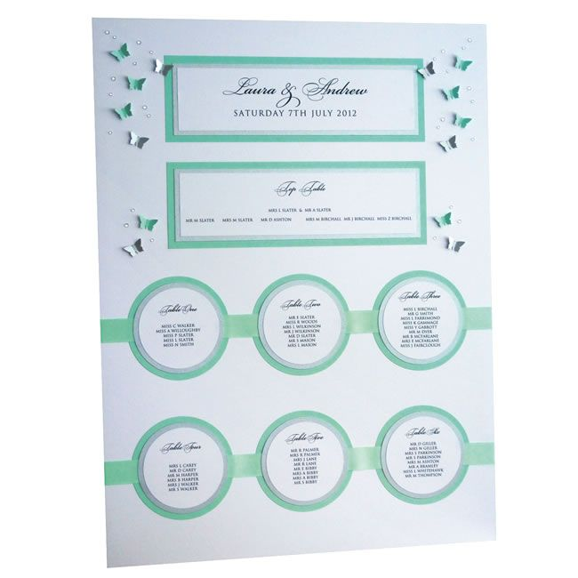 Butterfly Table Plan, £85.00, beehappydesigns.co.uk