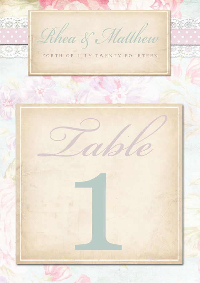 Midsummers Dream table number, £4, lucyledger.com
