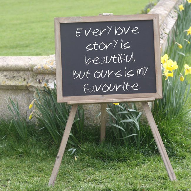 7-trending-wedding-reception-details-for-summer-2014-blackboard-easel-large-wedding-sign-50-The-Wedding-of-my-Dreams-(1)