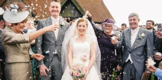 Kryska and Adam's beautiful pink wedding © daffodilwaves.co.uk