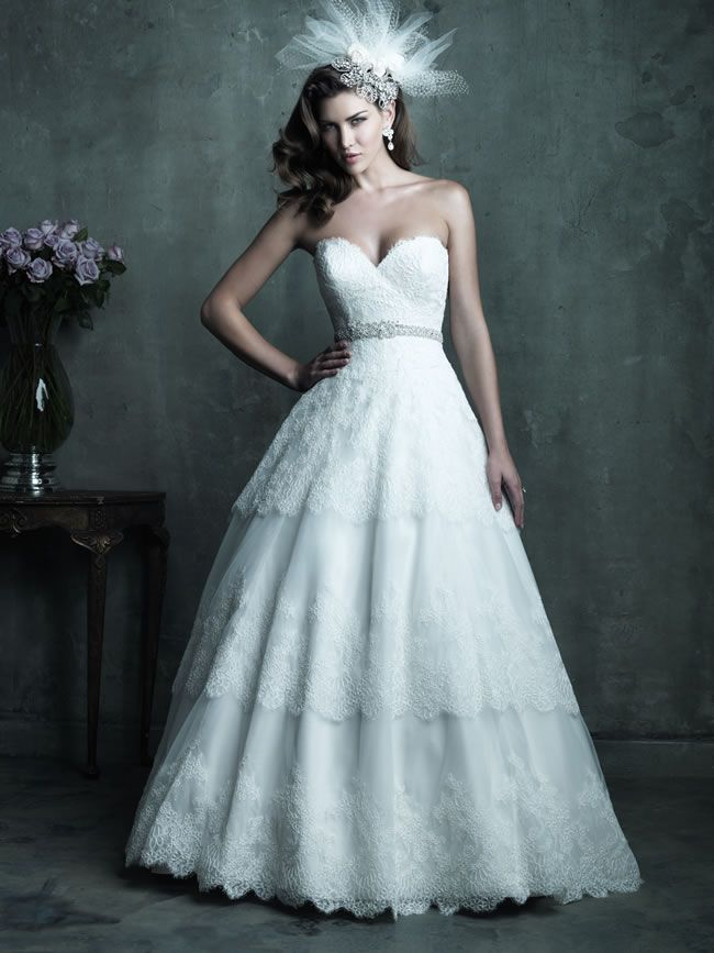 Style C285 from Allure Bridals Couture collection