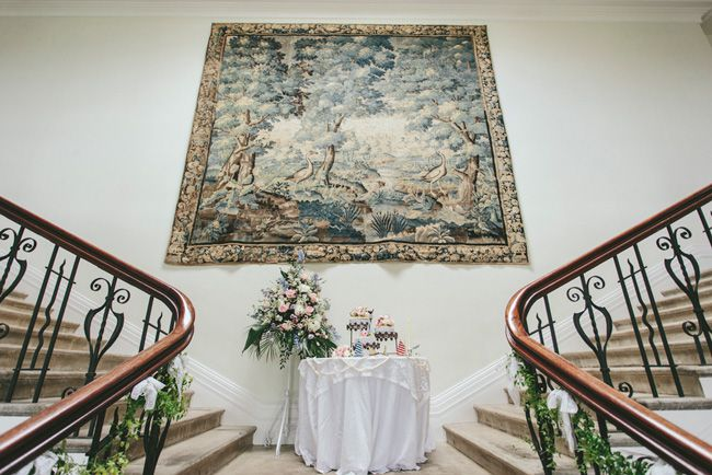 a-beautiful-vintage-real-wedding-at-scorrier-house-in-cornwall-stairs