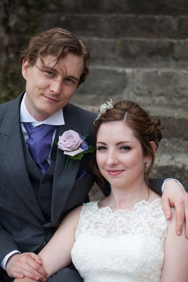 Catherine and James's beautiful purple wedding day © emmamoorephotography.co.uk