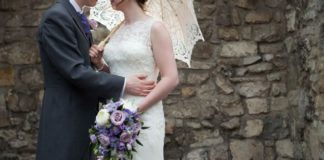 Catherine and James's beautiful purple wedding day © emmamoorephotography.co.uk
