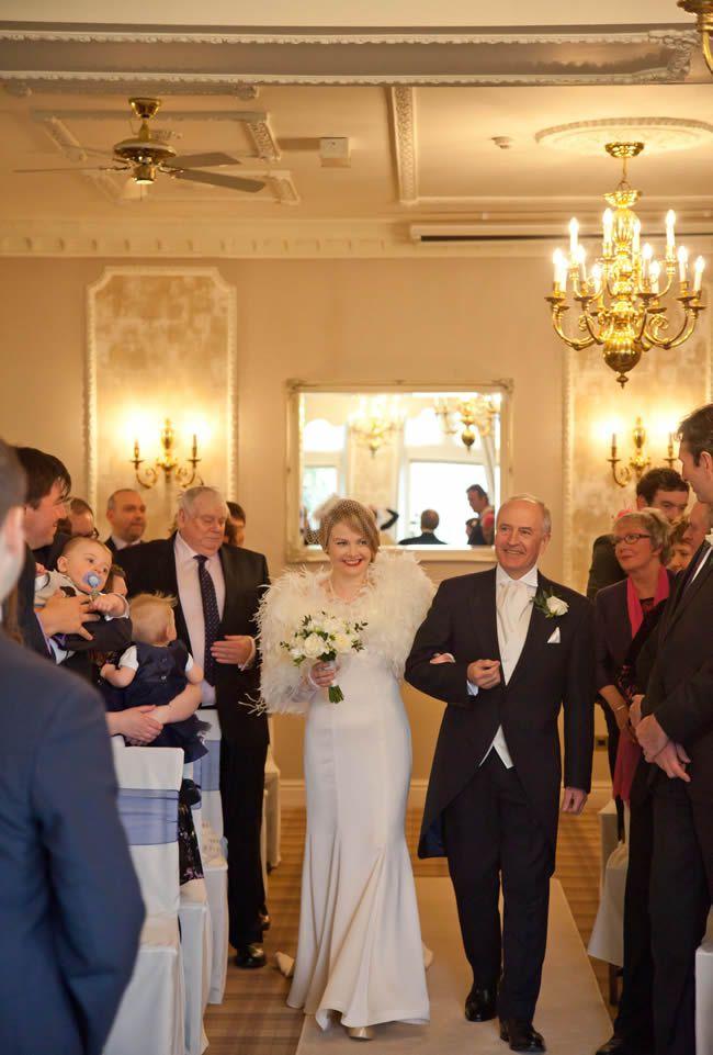 Sarah and Ossi's glamorous vintage winter wedding © tireedawson.co.uk