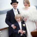 Sarah and Ossi's glamorous vintage winter wedding © tireedawson.co.uk