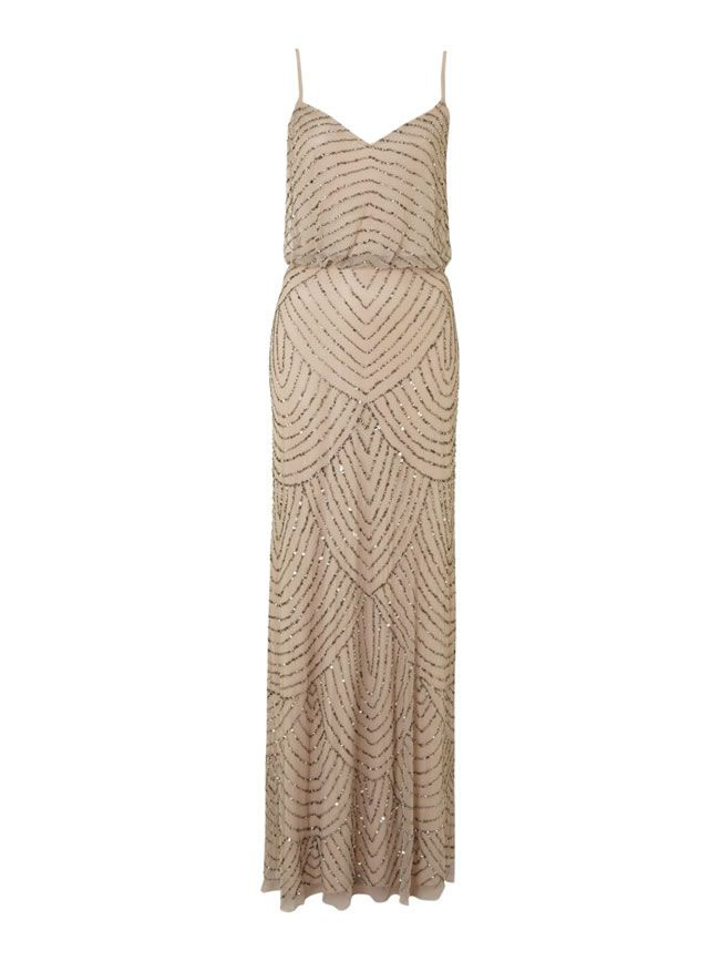 16-fab-high-street-finds-for-bridesmaids-Adrianna-Papel-art-deco-beaded-dress-£240-at-House-of-Fraser