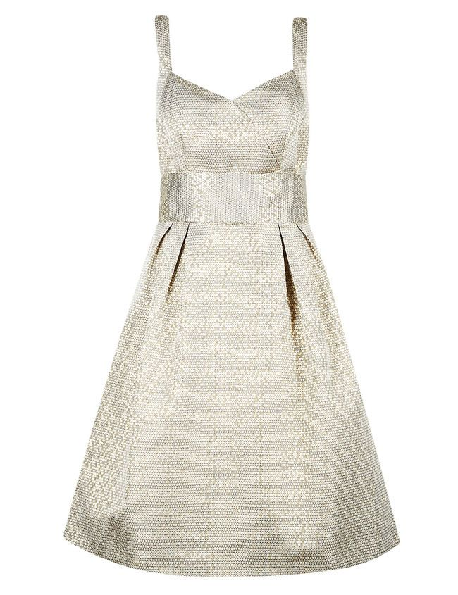 16-fab-high-street-finds-for-bridesmaids-m&s-gold-jacquard-dress-£85