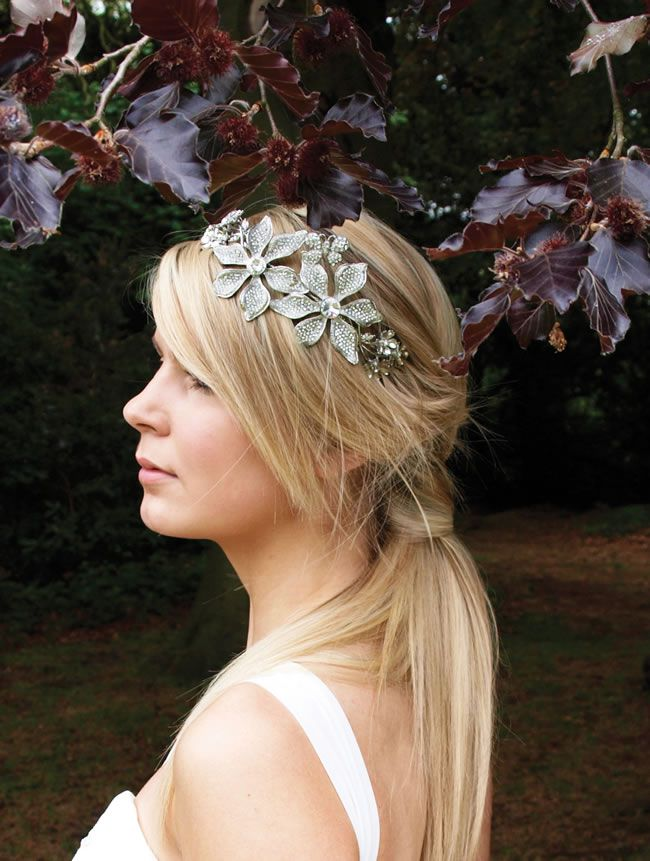 Goddess tiara, £165, Ivory & Co