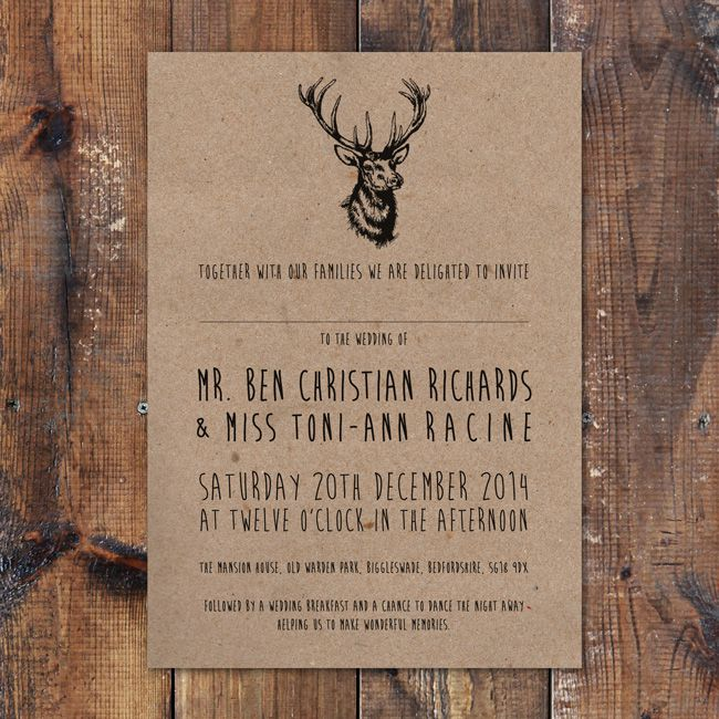 Forest Themed Wedding Invitations: 4 Perfect Wedding Invitations For An Outdoor Celebration