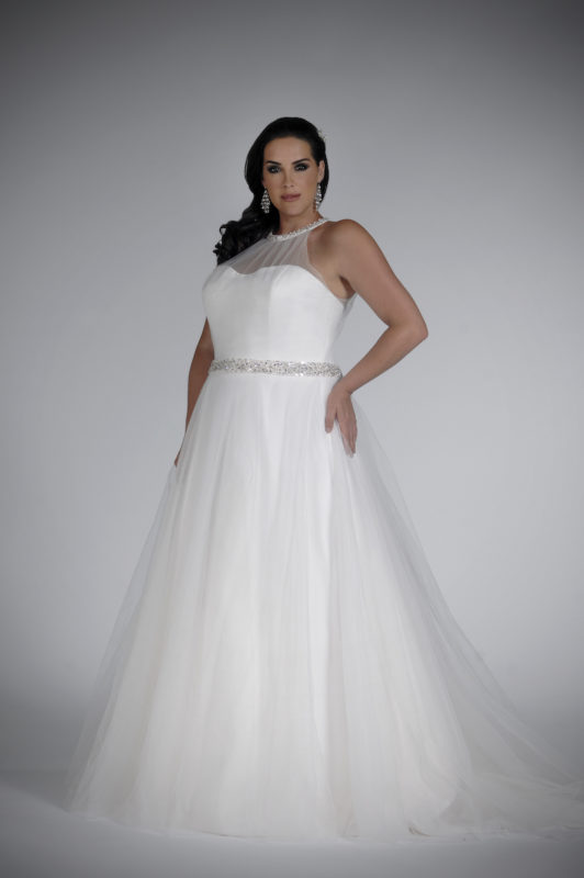 Best Plus Size Wedding Dresses Sonsie plus size wedding dress with straps