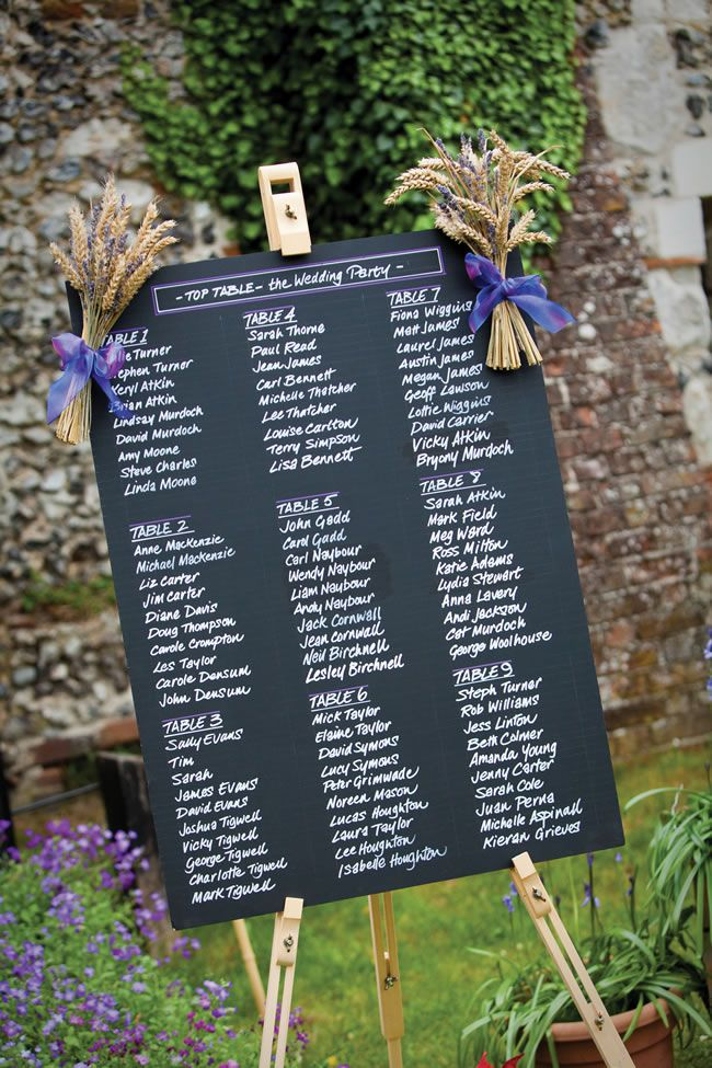 Blackboard table plan - 20 Amazing Table Plans to Suit Your Wedding Theme