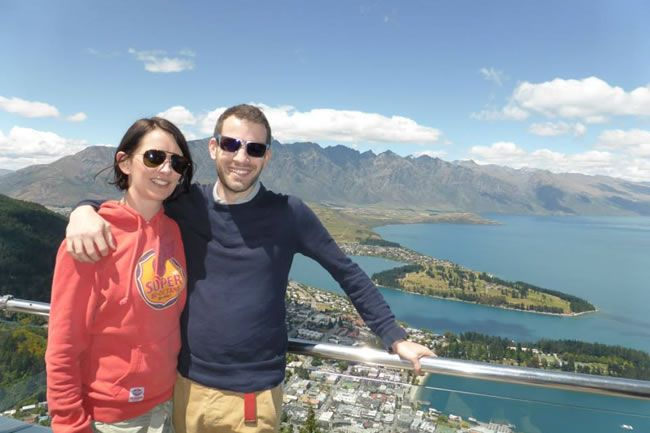 be-inspired-by-this-adventure-filled-real-life-honeymoon-in-new-zealand-Frances-and-Tom-in-Queenstown