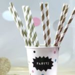 how-to-work-prints-and-patterns-into-your-wedding-theme-theweddingofmydreams.co.uk-Gold-and-White-Stripe-Paper-Straws-25-£3