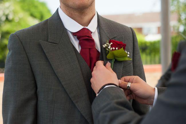 Joanne and Andrew's romantic red wedding © davidlovephotography.co.uk