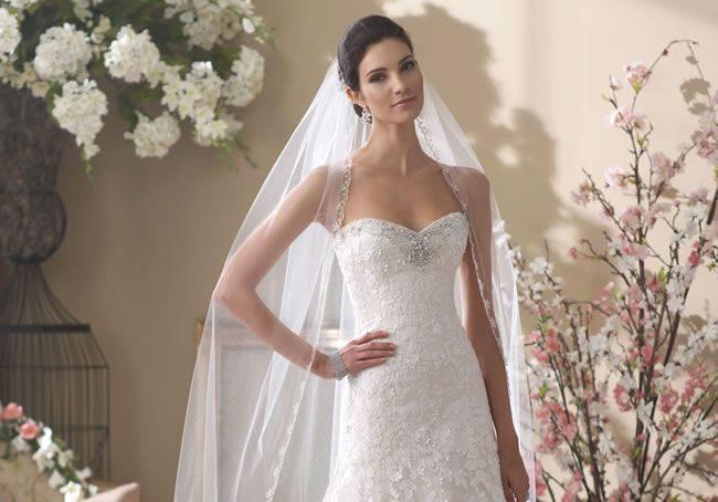 These David Tutera For Mon Cheri Wedding Dresses Are Princess Perfect