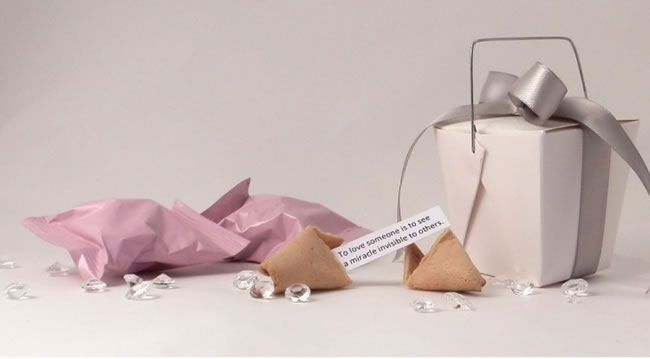 Personalised fortune cookies from Unique Wedding Favours