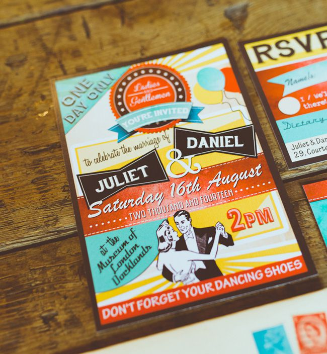 6-quirky-new-wedding-stationery-collections-for-2015-Retro-Diner