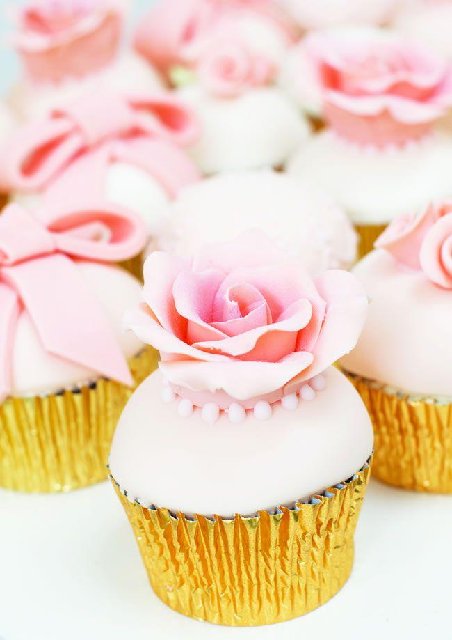 Peach Rose Cupcakes -  Rosalind Miller Cakes 2
