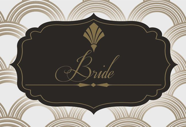 claresimpsondesigns.co.uk from £2.80 Twenties Dazzle Bride Placecard-1
