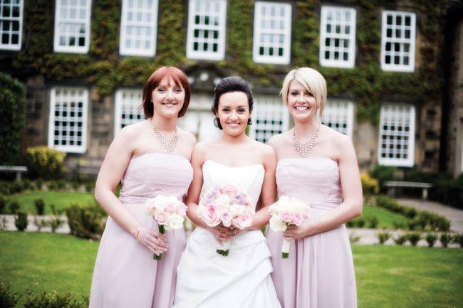 Lois and Matt's dusky pink wedding © bluelightsphotography.co.uk