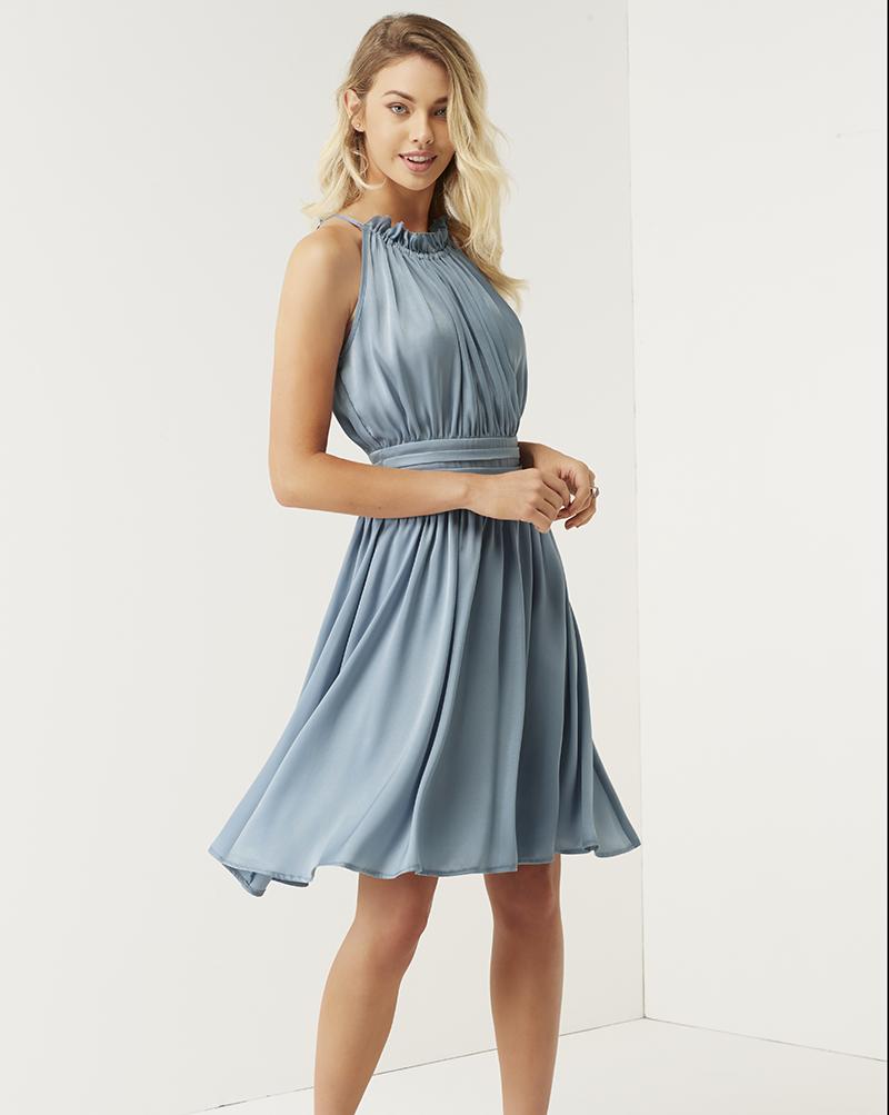 Little Mistress 'Blue Grey Frill Halterneck Dress' £55 at www.little-mistress.com (3)