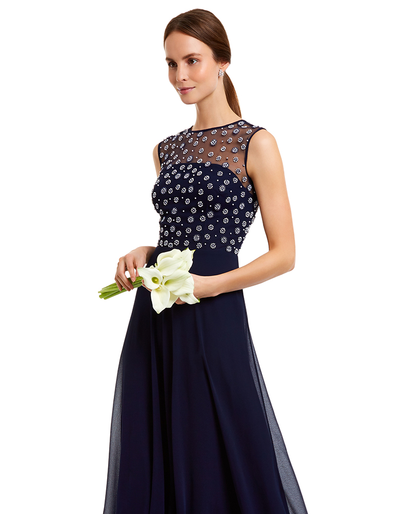 Motee Maids Navy Emma Dress