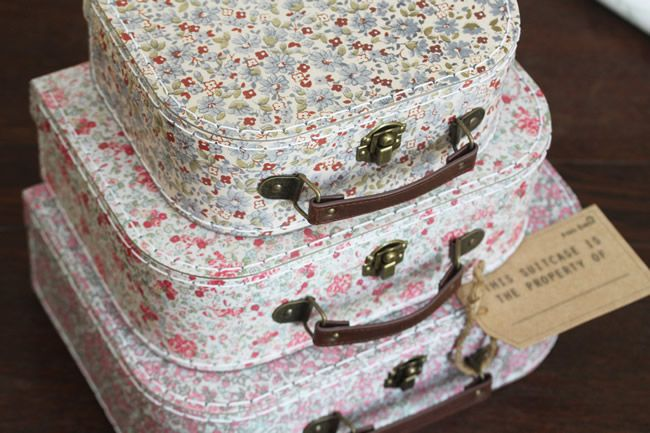 biggest-honeymoon-mistakes-www.luckandluck.co.uk Vintage Floral Mini Suitcases ú18.95