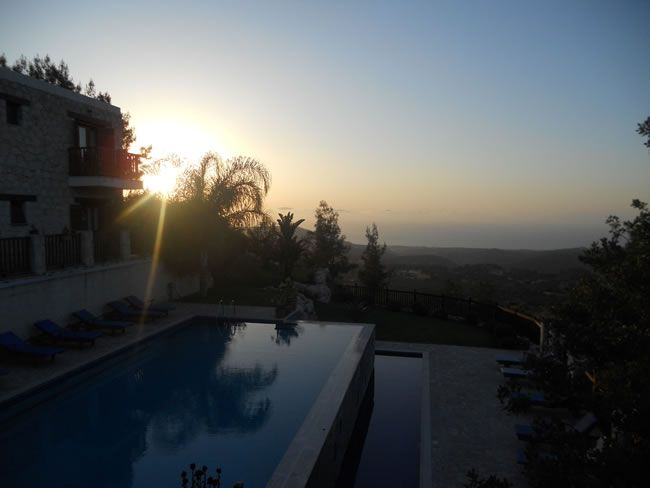 cyprus-honeymoon-Paradisos Hills Pool sunset